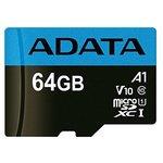 Карта памяти A-Data Premier AUSDX64GUICL10A1-RA1 microSDXC 64GB (с адаптером)