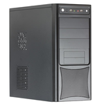 Корпус 500W FST HAFF 2803 Black/Silver
