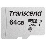 Карта памяти Transcend microSDXC 300S 64GB + адаптер