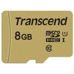 Карта памяти Transcend microSDHC 500S 8GB + адаптер