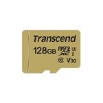 Карта памяти Transcend microSDXC 500S 128GB + адаптер