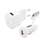 Комплект USB зарядных устройств TeXet PowerUno TCS-1102 White