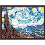 Картина по номерам Menglei Звездная ночь (Ван Гог) MG124