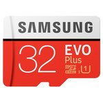 Карта памяти Samsung EVO+ microSDHC 32GB + адаптер [MB-MC32GA]