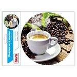 Коврик для мыши Buro BU-T60051 рисунок/кофе