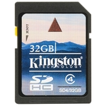 Карта памяти SDHC 32Gb Kingston SD4/32GB