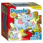 Пазл Topgame Слон и слоненок / 01155