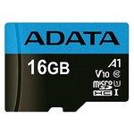 Карта памяти A-Data Premier AUSDH16GUICL10A1-R microSDHC 16GB