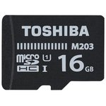 Карта памяти Toshiba THN-M203K0160EA microSDHC Class 10 16GB (с адаптером)
