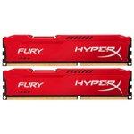 Оперативная память Kingston HyperX Fury Red 2x8GB KIT DDR3 PC3-10600 (HX313C9FRK2/16)