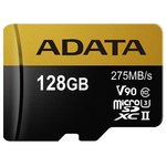 Карта памяти A-Data microSDXC UHS-II 128GB + адаптер [AUSDX128GUII3CL10-CA1]