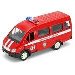 Модель 1:34-1:39 ГАЗель ГАЗ-3221 пожарная охрана Welly 42387AFS