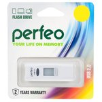 USB Flash Perfeo S02 4GB (белый) [PF-S02W004]