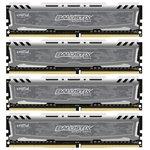Оперативная память DDR4 16GB KITof4 PC-21300 2666MHz Crucial Ballistix Sport LT Gray (BLS4C4G4D26BFSB)
