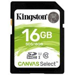 Карта памяти Kingston Canvas Select SDS/16GB SDHC 16GB