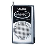 Радиоприемник портативный Сигнал РП-103 черный/серебристый