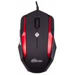 Мышь Ritmix ROM-307 черный, красный USB