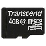 Карта памяти Transcend microSDHC (Class 10) 4GB (TS4GUSDC10)