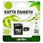 Карта памяти Perfeo microSDHC Class 10 8GB + адаптер [PF8GMCSH10A]