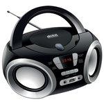 Аудиомагнитола Hyundai H-PCD100 черный/серебристый