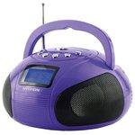 Аудиомагнитола Hyundai H-PAS100 фиолетовый
