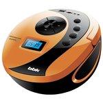 Аудиомагнитола BBK BS10BT белый/оранжевый