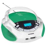 Аудиомагнитола Telefunken TF-CSRP3492B зеленый/белый