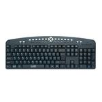 Клавиатура CBR KB-340GM Black-Silver USB