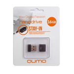 16GB USB Drive Qumo Nano Black