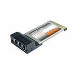 Контроллер ST-Lab C-121 PCMCIA/Cardbus IEEE 1394 3 port Adapter ,Retail