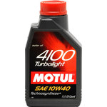Моторное масло Motul 4100 Turbolight 10W40 1л