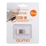 32GB USB Drive QUMO NANO White