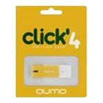 4GB USB Drive QUMO Click Amber