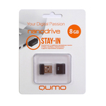 8GB USB Drive QUMO NANO Black