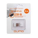 8GB USB Drive QUMO NANO White
