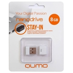 8GB USB Drive QUMO Nanodrive QM8GUD-NANO-W