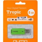 8GB USB Drive QUMO Tropic Green