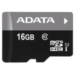 Карта памяти 16GB MicroSD A-Data Premier (AUSDH16GUICL10-RA1)