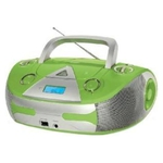 Аудиомагнитола BBK BX325U салатовый/серебристый