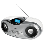 Аудиомагнитола BBK BX517U белый металлик