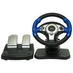 Руль Dialog GW-201 STREET RACER II Black-Blue