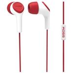 Наушники с микрофоном KOSS KEB15i (красный)