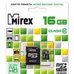 Карта памяти 16Gb MicroSD MIREX 13613-AD10SD16