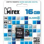 Карта памяти 16Gb MicroSD MIREX 13613-ADTMSD16