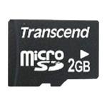 Карта памяти 2GB MicroSD Transcend TS2GUSD (adapter)