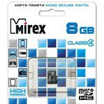 Карта памяти Mirex microSDHC (Class 4) 8GB (13612-MCROSD08)
