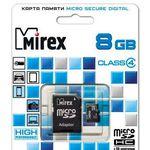 Карта памяти Mirex microSDHC (Class 4) 8GB (13613-ADTMSD08)