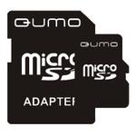 Карта памяти QUMO microSDHC (Class 4) 8GB + адаптер (QM8GMICSDHC4)