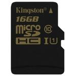Карта памяти 16Gb MicroSD Kingston SDCA10/16GBSP