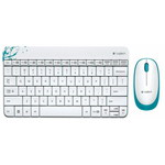 Клавиатура+Mышь Logitech MK240 (920-005791) White